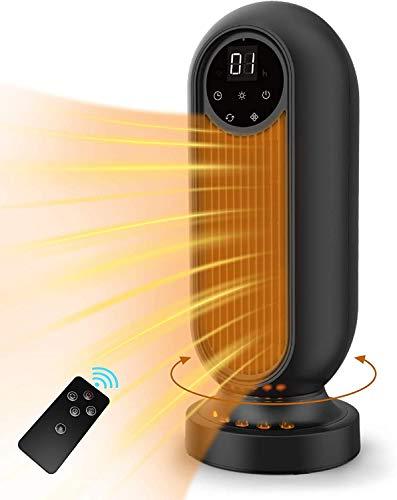 Heizlüfter, infray Heizlüfter mit Fernbedienung 2000W, Keramik Heizlüfter Oszillation 90°, 3 Heizstufen, Schnellheizer mit Timer, leise Heizgeräte, energiesparend Betrieb für Badezimmer, Wohnzimmer