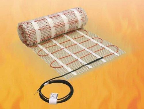 elektrische Fußbodenheizung ECOFLOOR Comfortmat für Fliesenböden, 0,45 qm (0,9x 0,5 m)