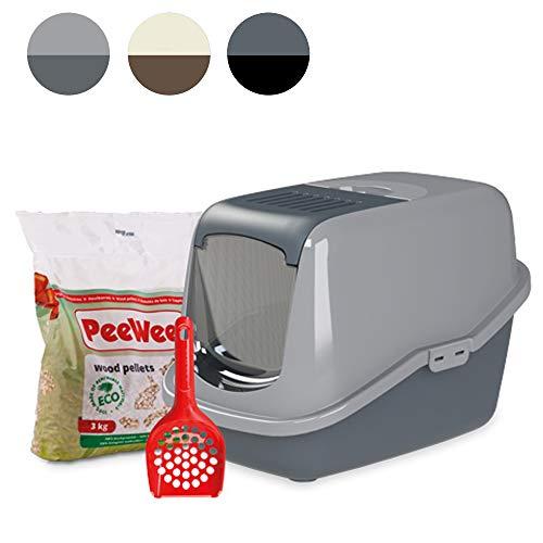 PeeWee EcoHus - Katzentoilette - Starter-Paket Grau