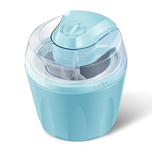 Heladera Máquina Máquina De Hielo para El Hogar, Máquina De Yogurt Congelado Fácil De Limpiar Y De Bajo Consumo, Máquina De Helado Italiana Multifuncional, Pies Antideslizantes(Color:Azul)