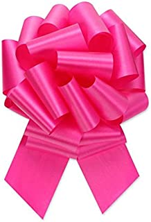 Berwick Offray Ribbon Pull Bow, 5.5'' Diameter with 20 Loops, Beauty Pink