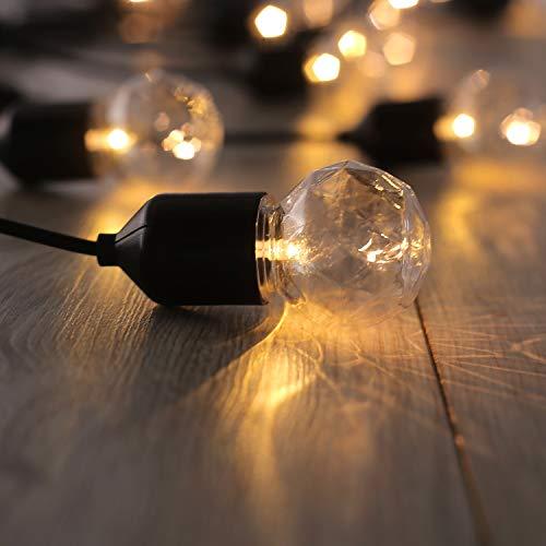 DecoKing Led-lichtsnoer, gloeilampen met connector, statisch stroomvoorziening, voor binnen en buiten, tuindecoratie
