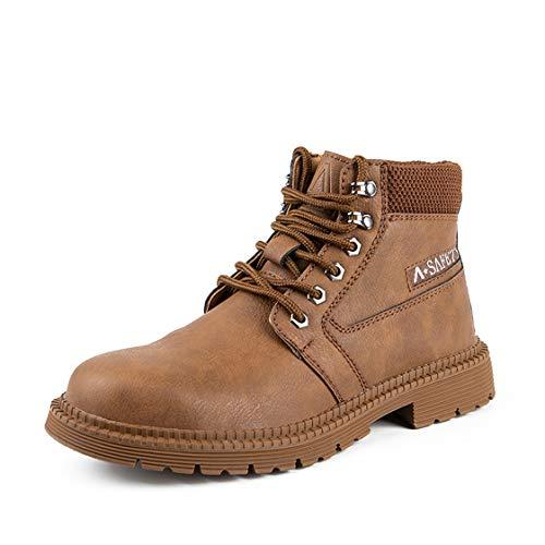 HMAKGG Mujer Hombre Invierno Botas de Seguridad Hombre Impermeable con Puntera de Acero S3 Zapatos de Trabajo Entrenador Unisex Zapatillas de Senderismo,Latón,39 EU