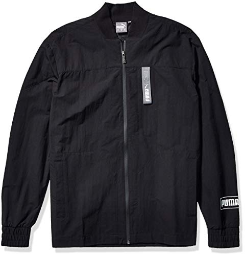 PUMA Men's NU-TILITY Woven Jacket, Black, XX-Large