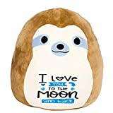 Squishmallow I Love You to The Moon and Back! Pre-Customized Original Kellytoy 8' Squishmallow Super Soft Plush Toy Stuffed Animal Pet Pillow Gift (Simon The Sloth)