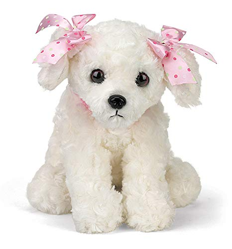 Bearington Sassy Plush Stuffed Animal White Puppy Dog 13