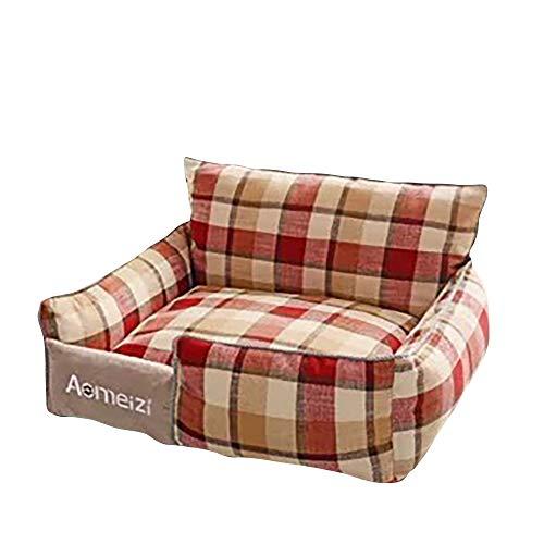 thematys Hundebett I Haustier-Korb I Hunde-Couch I Katzenbett hochwertig und Kratzfest I Abziehbar und Waschbar (Style 2, M (54 x 48 cm))