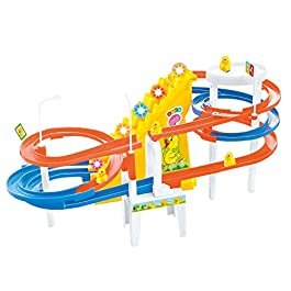 Duck Double Sliding Toy With Music And Lights For Kids