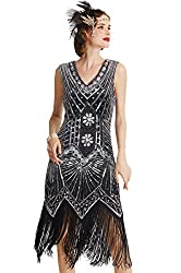 Gatsby flapper dress with Fringe