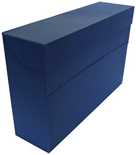 Elba 100580261 - Caja de transferencia de cartón forrado con tela, 10 cm, color azul