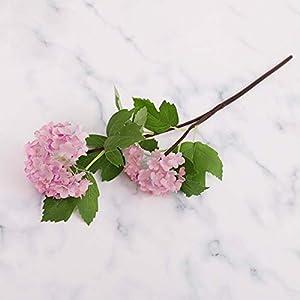 #NA Yehapp Artificial Flower Hose Snowball and Leaf Hydrangea Wedding Bouquet Garden Decoration Silk Cloth Plastic Flower Festival Decoration