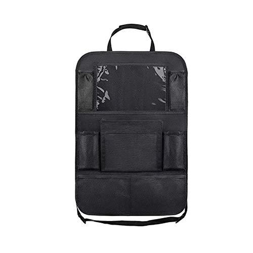 ZLYY Bolsa de almacenamiento para asiento de coche, bolsa de almacenamiento multifuncional, hamaca para iPad, protección antikick para asiento trasero de coche, almohadilla para asiento infantil