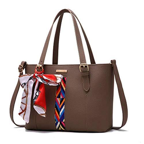 Kaffee Farbe Schal neue Welle Frauen Handtaschen mehrere PocketsHandbag Casual Umhängetaschen für Frauen PU Messenger Bags Fashion Tote Bag Casual Luxus 28x12x32