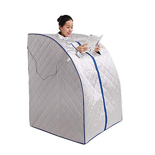 Gokiu Portable Far Infrared Sauna Personal Folding Home Sauna Spa Dry Portable Sauna Bath Carbon Fiber Plate Heating Lose Weigh