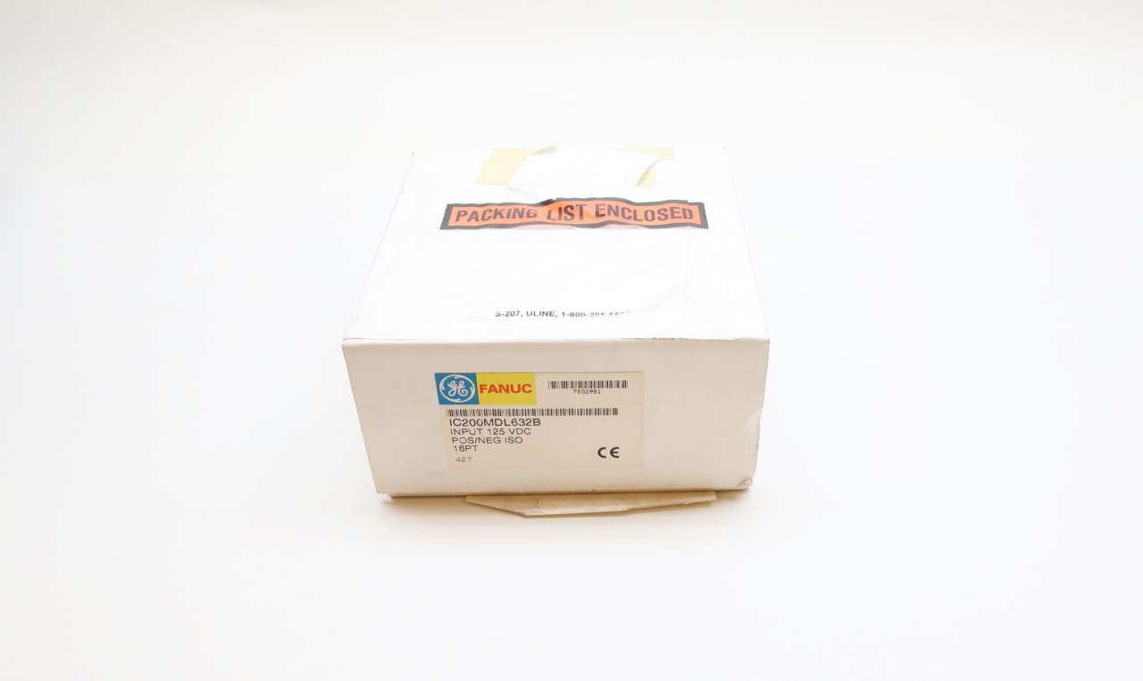 GE FANUC IC200MDL632B Input Max 70% OFF Module 125V-DC 70% OFF Outlet Negative ISO Positive