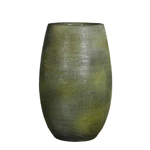 Mica ingmar vaas – groen reliëf – 35 x Ø18 cm