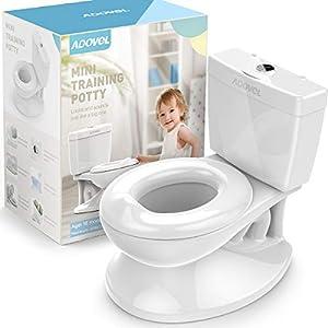 ADOVEL Orinal Infantil, Orinal Bebe, WC Niños para Bebé Aprende Entrenamiento Pote Más de 18 meses, Blanco