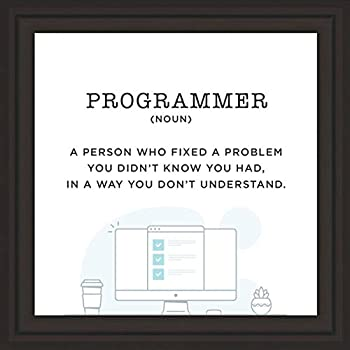 Computer Science Gifts | 7x7 in Programmer Gifts Ready to Hang | Packed Computer Programmer Gifts | Perfect Computer Lab Decorations Computer Teacher Gifts Software Engineer Gifts | Nerd gifts