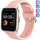 KUNGIX Smartwatch, Reloj Inteligente Mujer/Hombre con Monitor Oxígeno Sanguíneo(SpO2) de Pulsómetros, Pulsera de Actividad Inteligente Impermeable IP68 con Pantalla Táctil Completa para Android y iOS