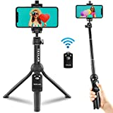 Texlar Selfie Stick Tripod TS48 Pro with Remote - Extendable to 48 Inches - for iPhone 12, 11, XR, X, 8, 7, Pro, Max, Plus, SE, Android Phone, Smartphone, Small Mini Cellphone Stand