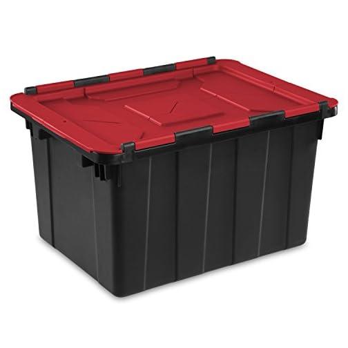 Sterilite 14619006 12 Gallon/45 Liter Hinged Lid Industrial Tote 4