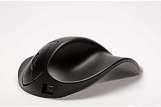 Hippus HandShoe - Ratón para Mano Derecha (tamaño Largo, 1500 dpi, USB), Color Negro
