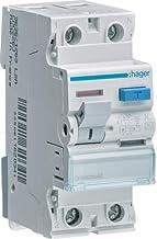 Hager Earth Leakage Circuit Breaker - 40A 2Pole 30MA (ELCB/RCCB) CDC241J