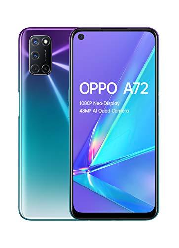 OPPO A72-4GB + 128GB Snapdragon 665 6.5 inch 5000mAh Dual-Sim 48MP Camera Sim Free Android 10 Smartphone- Aurora Purple