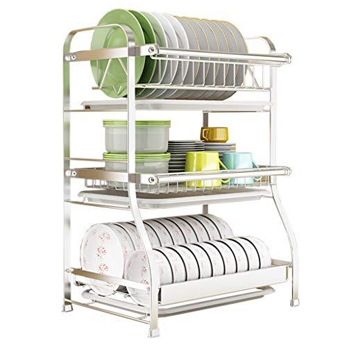3 Edelstahl-Abtropfgestell für Küchengeschirrspülkästen der Stufe 304 Kompakte Besteckablage Multifunktions-Küchenregale