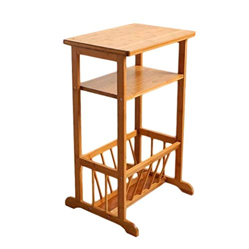 L.TSA Bamboo Side Table Multi-level Living Room Sofa Telephone Table Balcony Coffee Leisure Table Simple Bedroom Storage Cabinet Books Magazine Rack