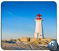 灯台ペギーコーブノバスコシア州カナダマウスパッドマットマウスパッドホットギフト