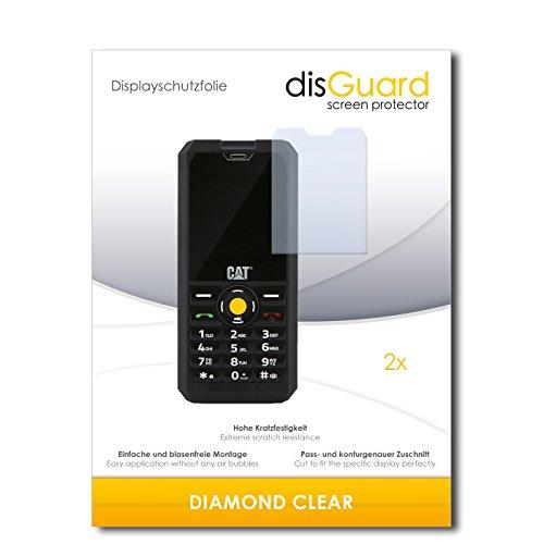 disGuard 2 x Bildschirmschutzfolie Caterpillar Cat B30 Dual SIM Schutzfolie Folie DiamondClear unsichtbar