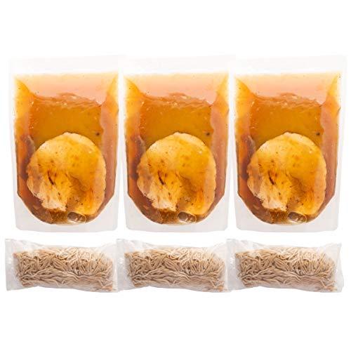 富良野とみ川 冷凍 石臼挽き中華そば 3食 ストレートスープ スープ360g麺140g×各3 北海道