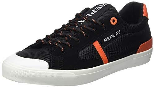 Replay Herren Equipe - Lampard Sneaker, Schwarz (Black 3), 43 EU