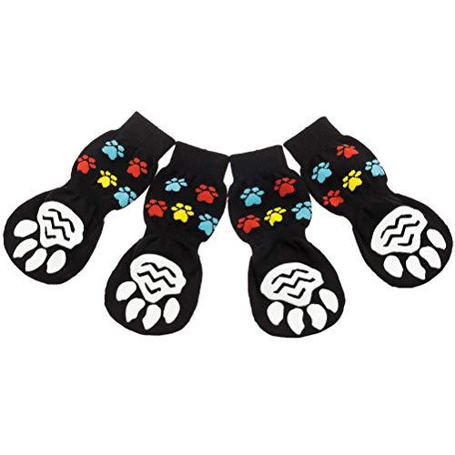 PAWCHIE Anti-Slip Dog Socks for Hardwood Floors
