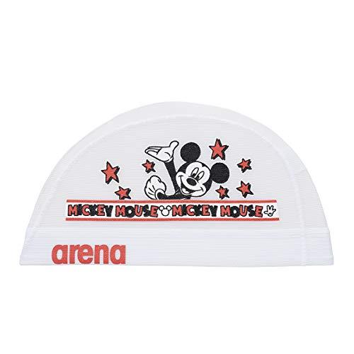 arena(アリーナ) スイムキャップ スイミングキャップ メッシュ ディズニー ミッキー&ドナルド DIS-9361 (WHT)ホワイト M