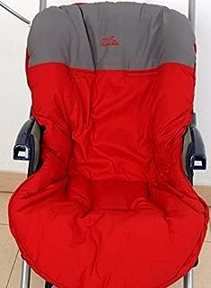 Colchoneta para silla de paseo reversible rayas y cuadros celeste Funda silla de coche Mundi Beb/é.