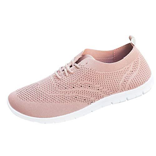LHWY Zapatos de Deportivas Mujer 2020 Running Casual Planas Zapatillas al Aire Libre (39EU, Rosa)