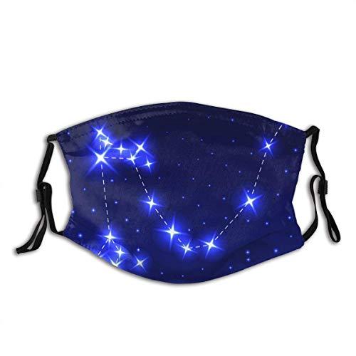 Sternbild Drachen Nacht Sternenhimmel Vektor Unisex Waschbare und Wiederverwendbare Baumwolle Warm Face Protection für Outdoor-Gesichtsdekoration