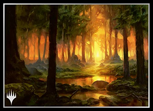 Magic The Gathering Theros Forest Card Game Sleeves Collection MTGS-095 80CT image