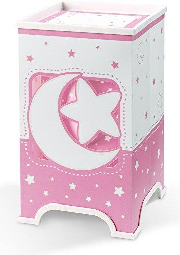 Dalber 63230S - Lámpara de Mesa Led diseño de Luna, color Rosa