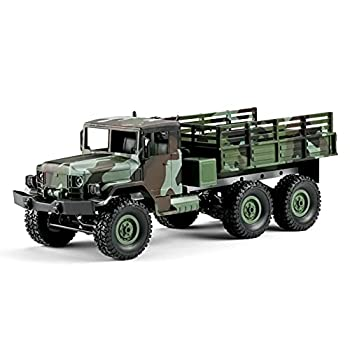 Absir MN-77 RC Military Truck 1/16 2.4G 6WD Off-Road Remote Control Car High Speed Electric Vehicle with Led Light RC Truck for Kids Adults RTR  1 Battery