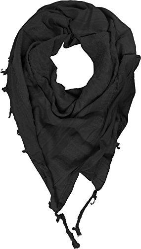 normani PLO Shemagh Tuch mit Fransen, 110 x 110 cm Farbe Black