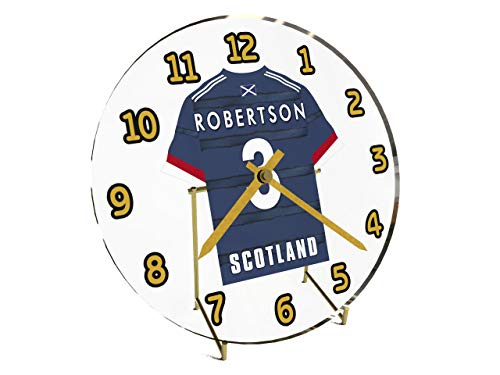 Fußball-Shirt-Tisch-Uhr mit internationalen Fußball-Mannschaften Scotland International Football Team Clock