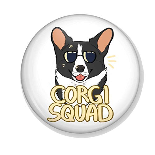 Gifts & Gadgets Co. Corgi Squad Miroir de maquillage rond 58 mm
