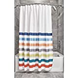 iDesign Ducha a Rayas, Preciosa Cortina de baño x 183,0 cm de poliéster, Blanco/Colores