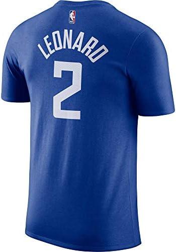 Nike Kawhi Leonard Los Angeles Clippers NBA Boys Youth 8-20 Blue Name & Number Dri-Fit T-Shirt