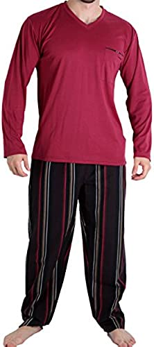 Mariner - Pyjama long Stripes 1 - (Bordeaux M)