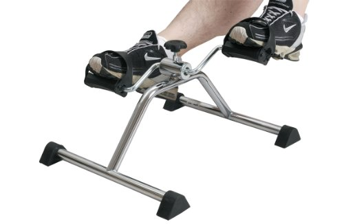 Pedal Exerciser, Mini Exercise Bike, Portable Indoor Fitness, Arm and...