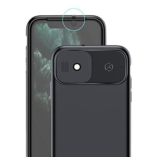 Spy-Fy Funda para iPhone 11 con cubierta de cámara deslizante delantera y trasera | Protege tu privacidad | 2 metros de protección contra caídas | negro mate | Funda para cámara iPhone 11 | Valenta